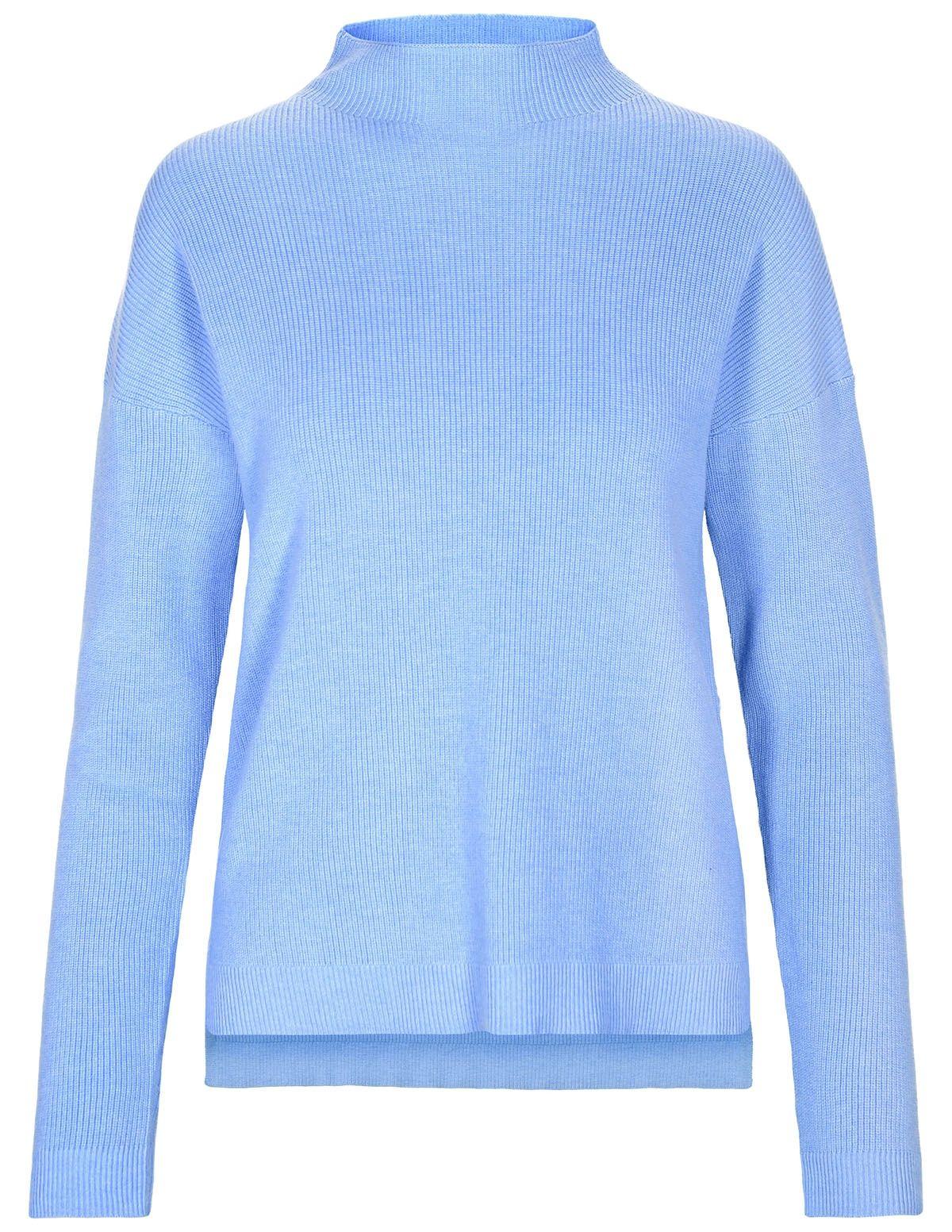 Turtleneck Pullover - Water Blue Melange