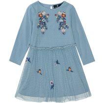 BASEFIELD Kleid Blumen - Light Blue