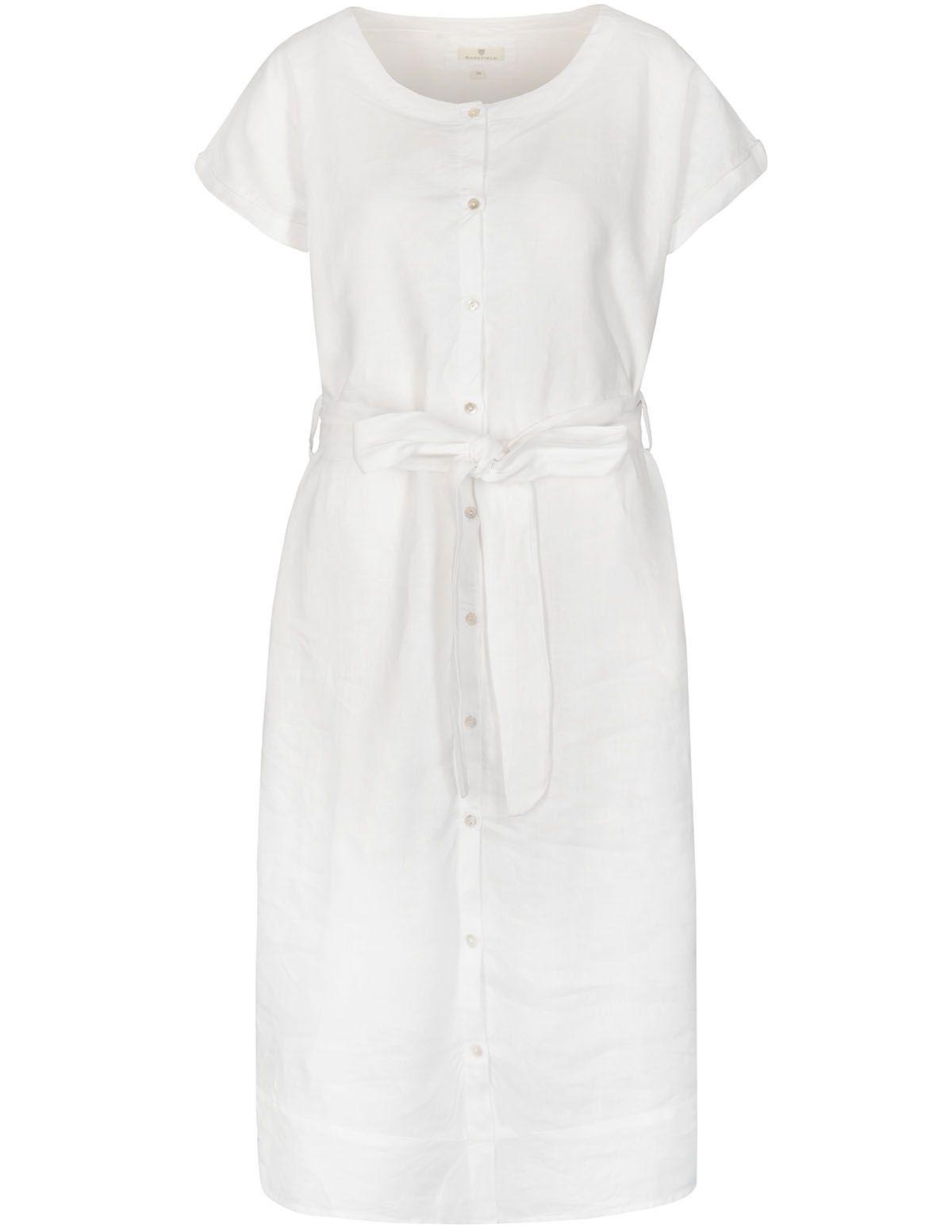 Leinenkleid - White