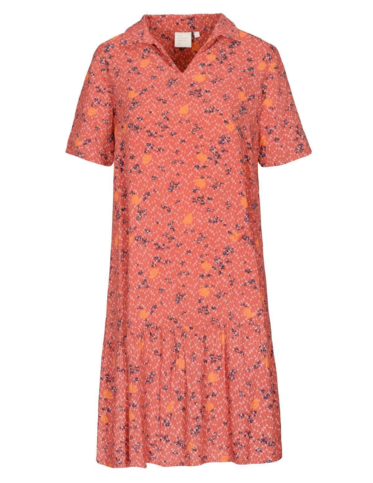 THE FASHION PEOPLE Kleid aus nachhaltigen LENZING™ ECOVERO™ Fasern - Caramel Print