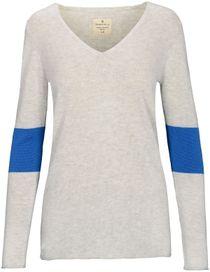 V-Neck Pullover COCO - Cool Grey Melange