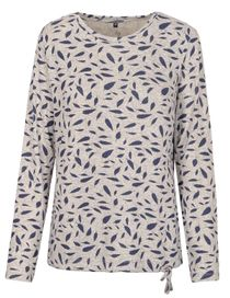 FRY DAY Shirt mit Allover-Print - Silvergrey Melange