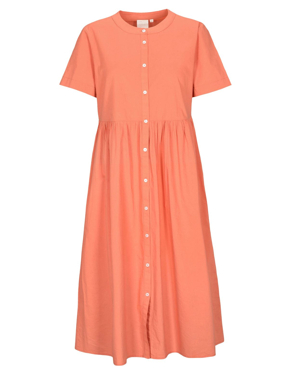 Kleid Organic Cotton mit durchgehender Knopfleiste - Sienna