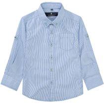 BASEFIELD Streifenhemd - Blue