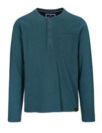Henley Shirt mit Brusttasche - Blue Petrol