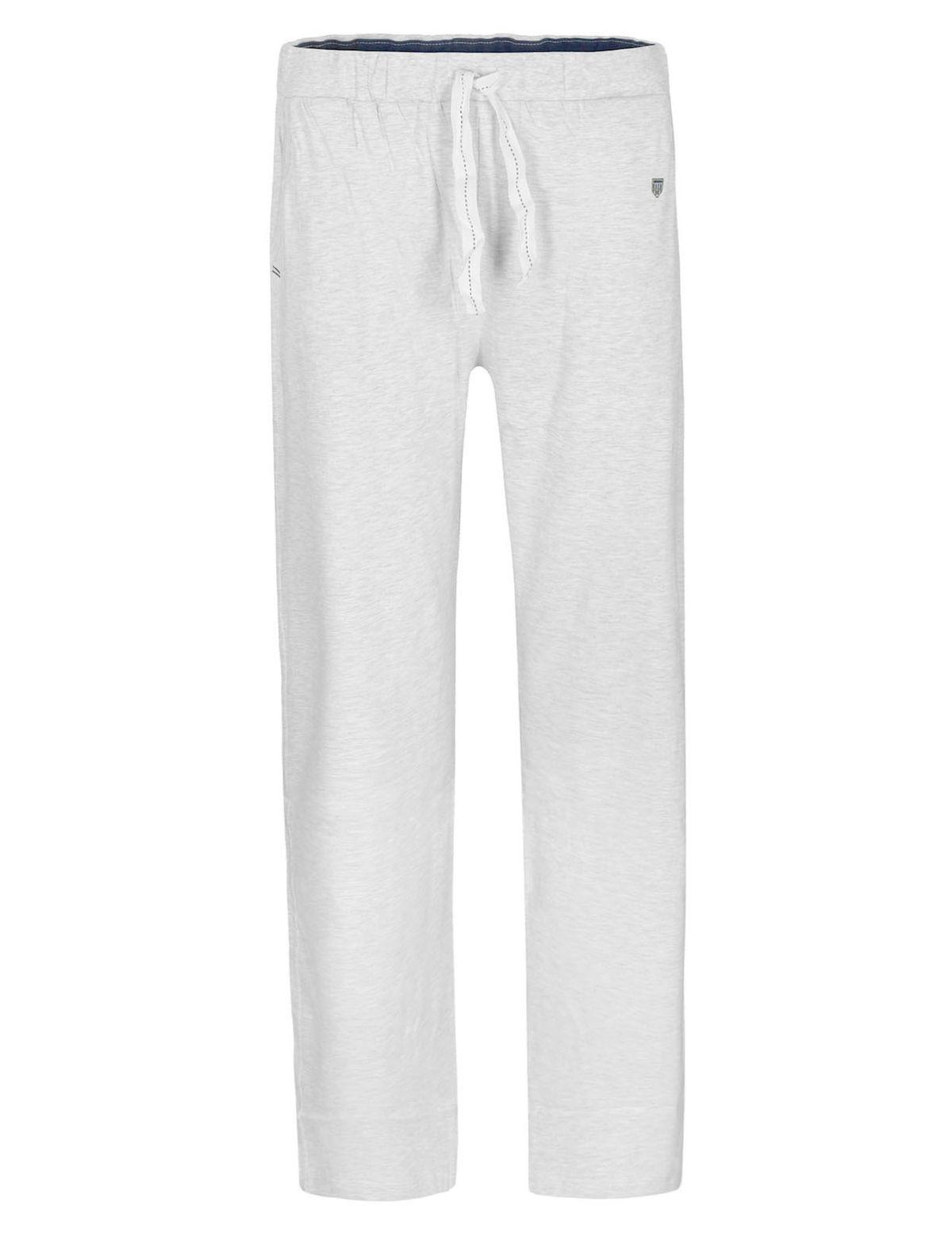HOMEWEAR Pyjama Hose mit Tunnelzug - Grey Melange