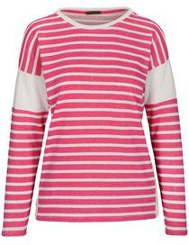 Ringelsweatshirt - Pink Kiss White