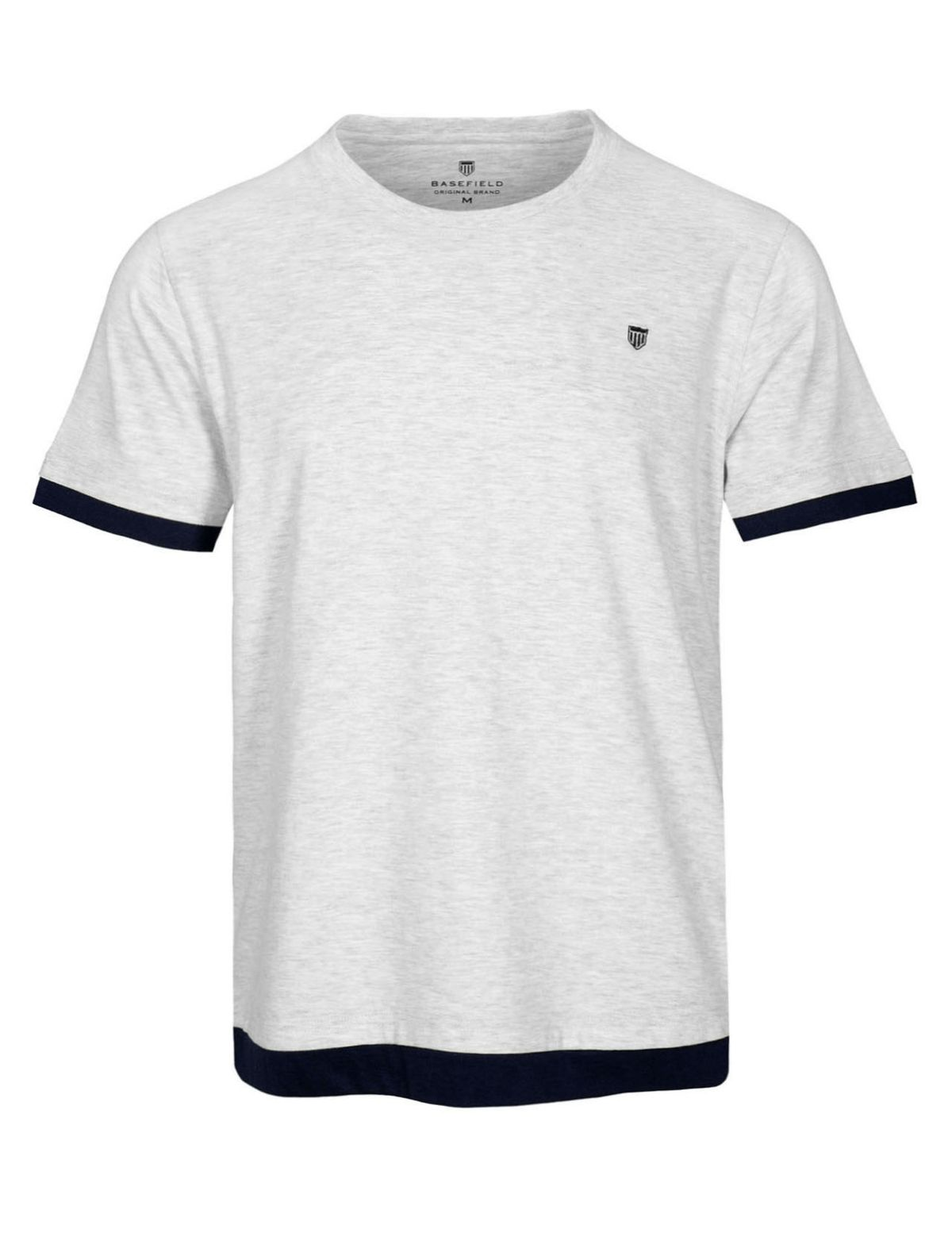 HOMEWEAR Pyjama Shirt in Layer-Optik - Grey Melange