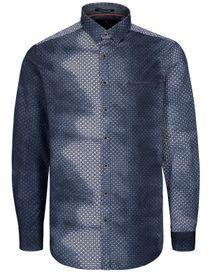 Freizeithemd mit Print MODERN FIT - Denim Blue