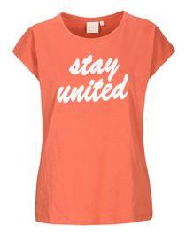 T-Shirt Organic Cotton mit Wording-Applikation - Sienna