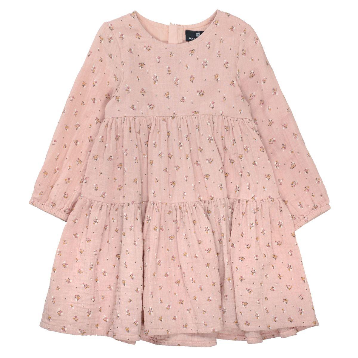BASEFIELD Kleid mit Blümchen-Print - Vintage Berry