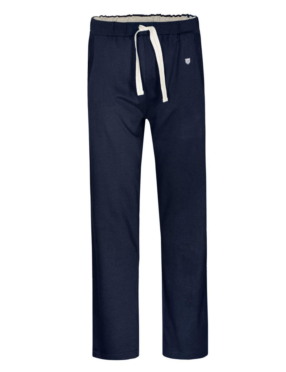 HOMEWEAR Pyjama Hose mit Tunnelzug - Navy