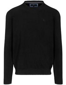 Pullover - STEFAN mit meliertem Design - Schwarz