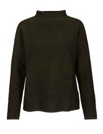 Pullover mit Stehkragen - Dark Moss