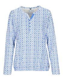 Langarmshirt mit Allover-Print - Offwhite