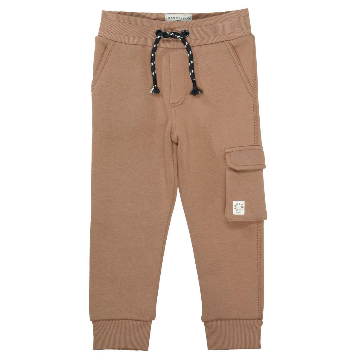 BASEFIELD Sweatpants mit aufgesetzten Patten-Tasche - Peanut