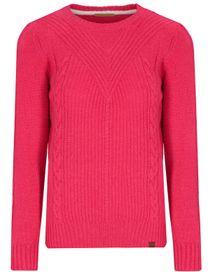 Zopf Pullover - Pink Kiss Melange