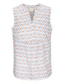 Blusentop Organic Cotton mit Allover-Print - Offwhite