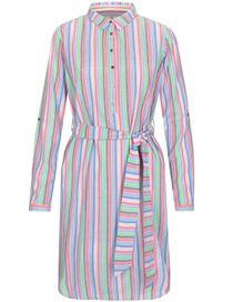 Hemdblusenkleid Streifen - Hibiscus Applegreen