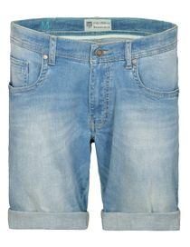 Jeans Bermuda mit Used-Waschung - Medium Blue