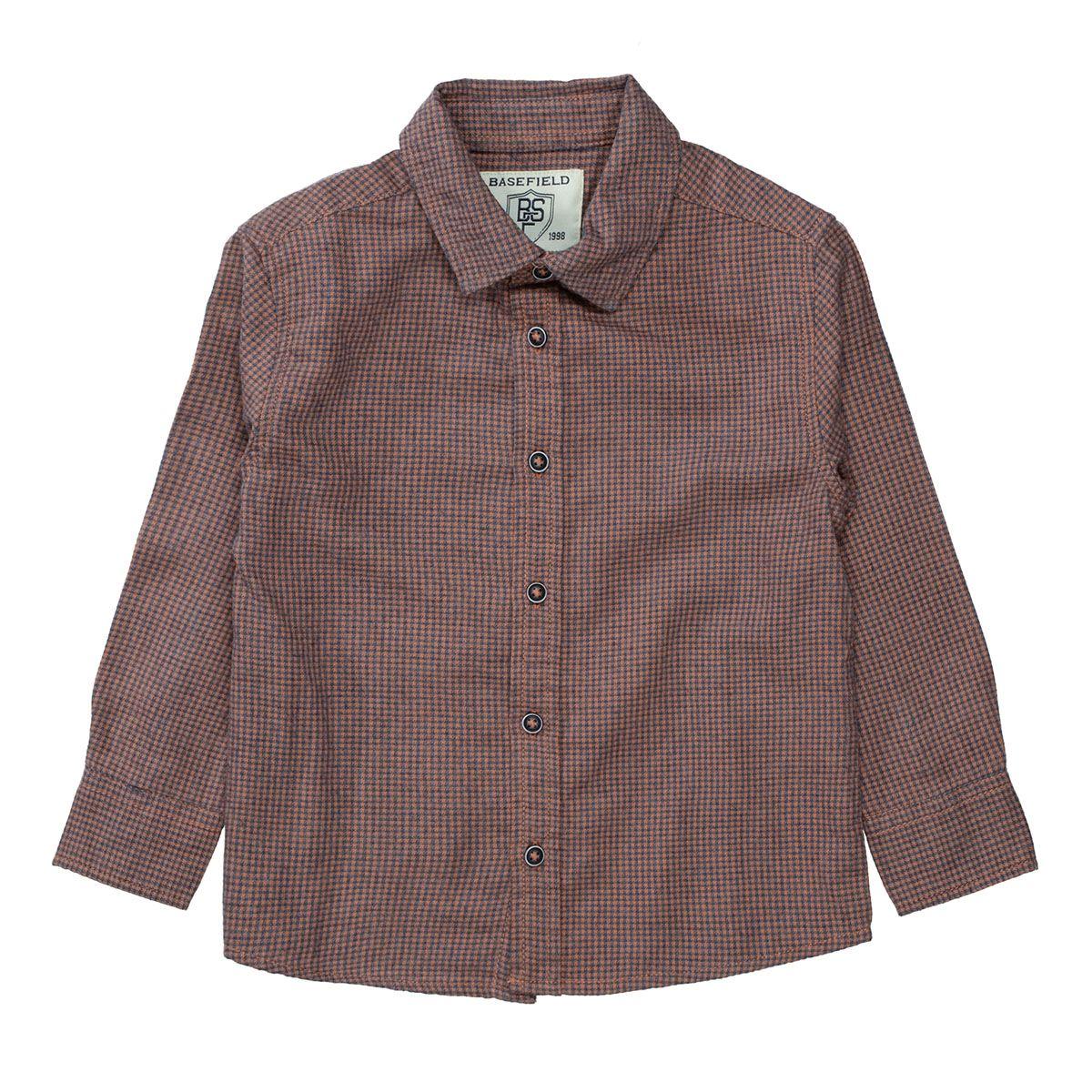 BASEFIELD Hemd im Karo-Muster - Rust