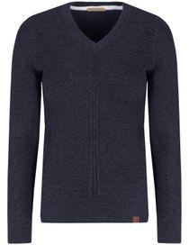 V-Neck Pullover - Atlantis Blue Melange