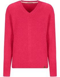 V-Neck Pullover - Pink Kiss Melange
