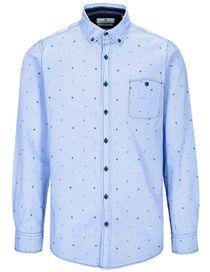 Freizeithemd mit Ethno-Muster MODERN FIT - True Blue