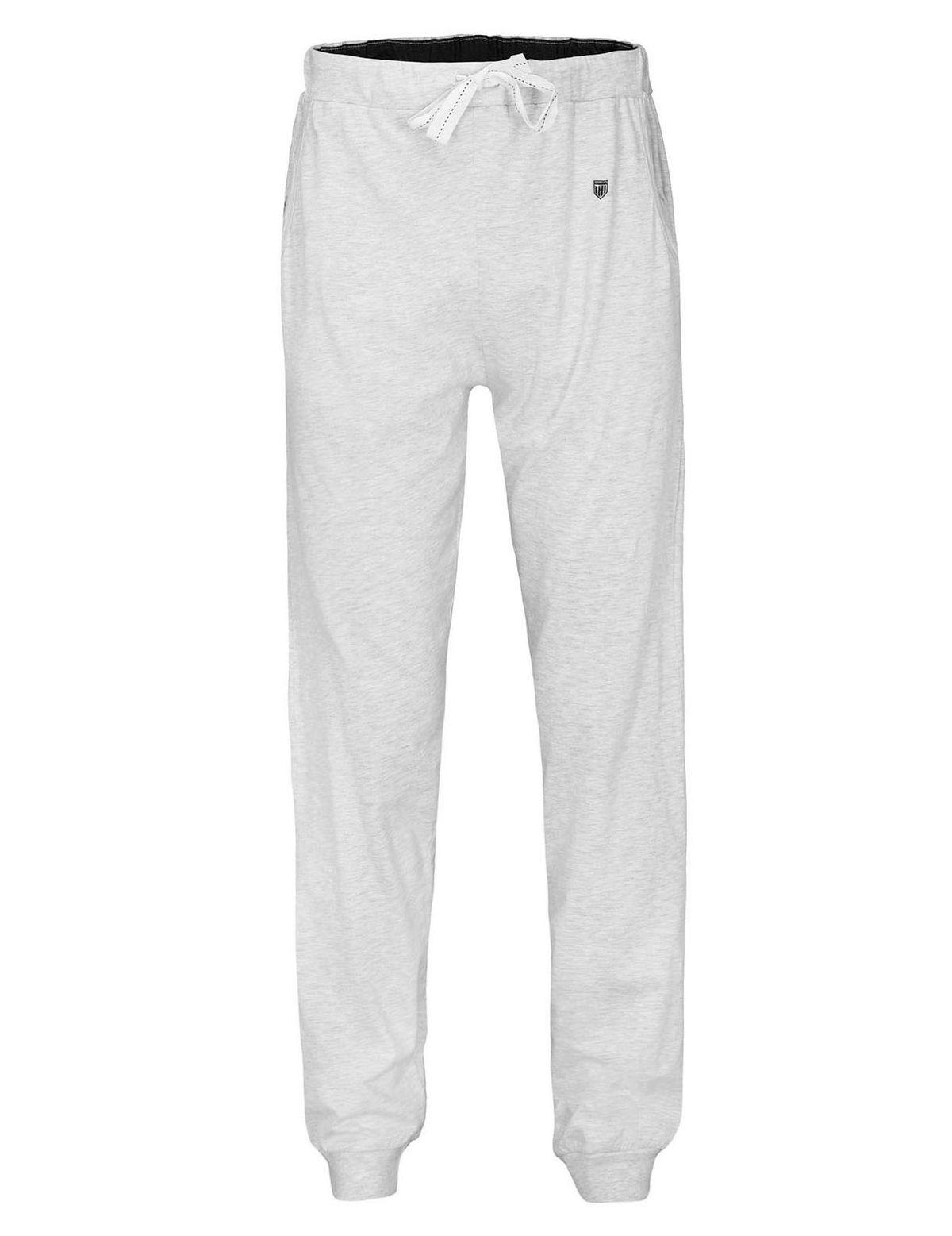 HOMEWEAR Pyjama Hose lang mit Tunnelzug - Grey Melange