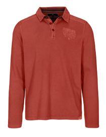 Langarm Polo Shirt mit kurzer Knopfleiste - Picante