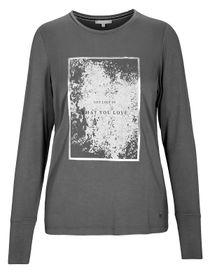T-Shirt - NELLE mit Front-Print - Dark Graphit