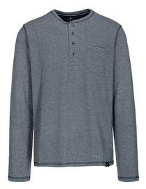 Henley Shirt mit Brusttasche - Blue Navy