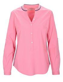 Bluse mit Galonstreifen - Soft Pink