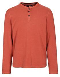 ORGANIC COTTON Henley Shirt aus Bio-Baumwolle - Picante