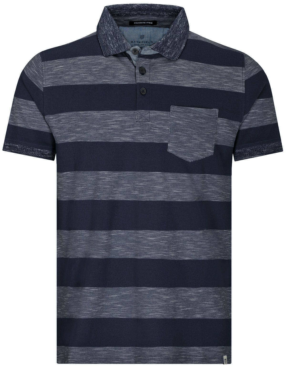 Polo Shirt 1/2 Modern Fit - Blue Navy