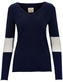V-Neck Pullover COCO - Atlantis Blue