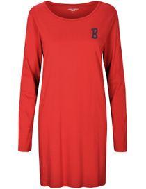 Nachthemd mit Galonstreifen - Rot