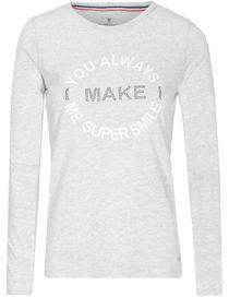 Printshirt SMILE - Cool Grey Melange