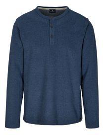 Henley Shirt - Blue Navy Melange