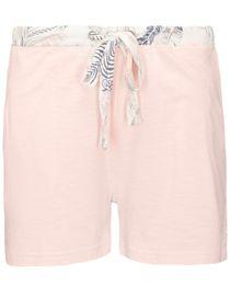 HOMEWEAR Shorts mit Kontrast-Paspelierung - Rose