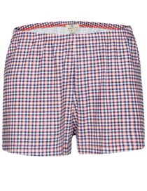 Homewear Short Karo-Druck - Melon