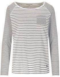 Streifenshirt ANDREA - Bright White