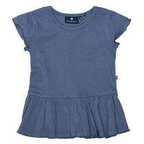 BASEFIELD Tunika mit Volant-Einsatz - Jeans Blue