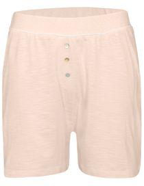 HOMEWEAR Shorts mit Knopfleiste - Creme