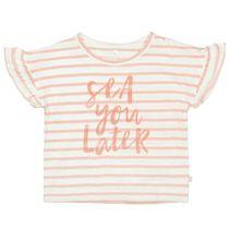 BASEFIELD T-Shirt SEA YOU LATER - Apricot Streifen