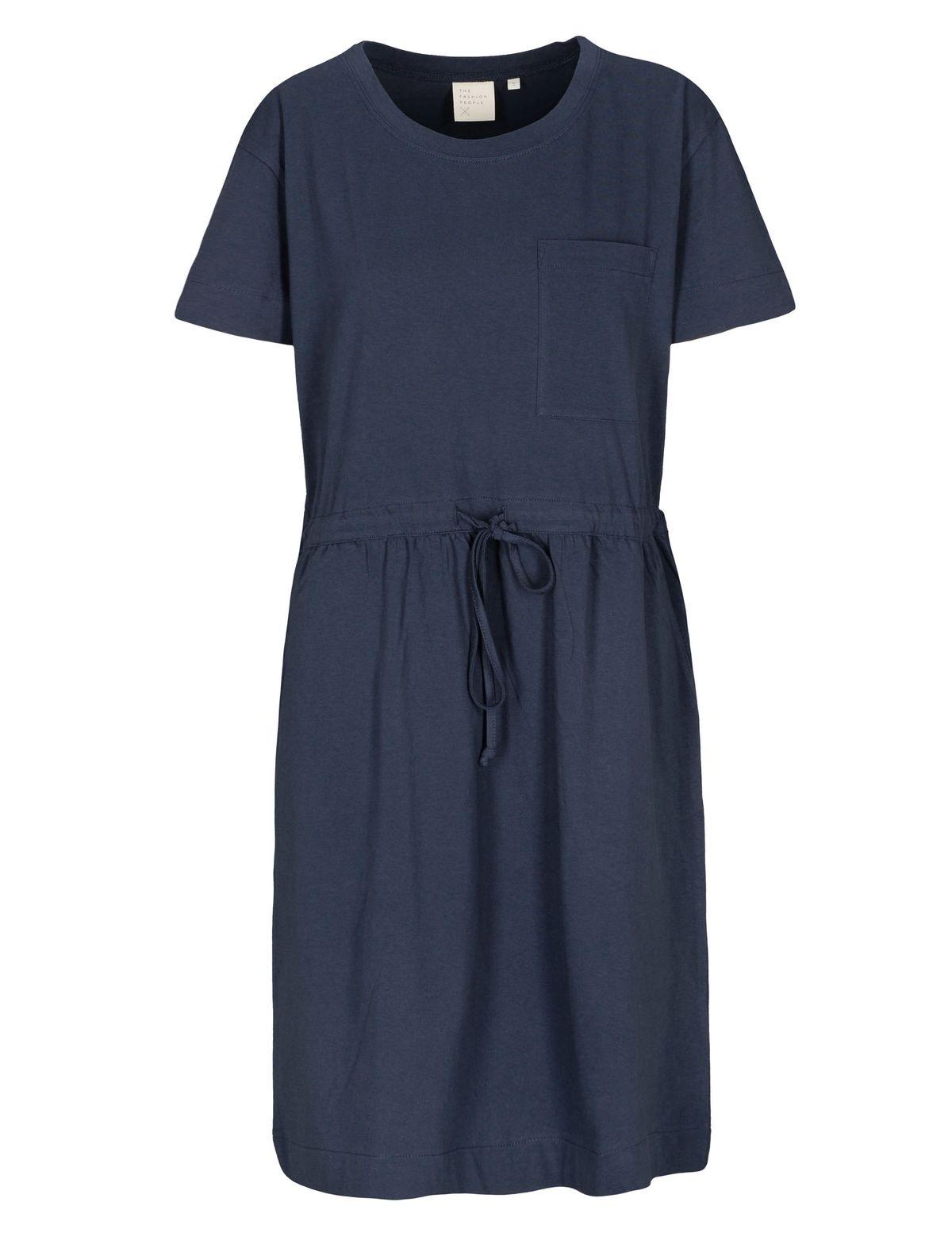 T-Shirt Kleid Organic Cotton - Blue Navy