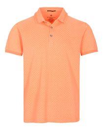 Poloshirt - Allover-Print mit kurzer Knopfleiste
