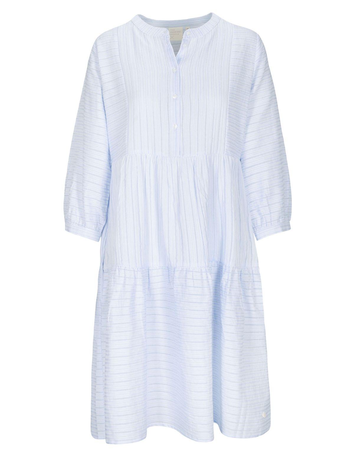 Kleid mit Streifen-Design - Blue Bright White