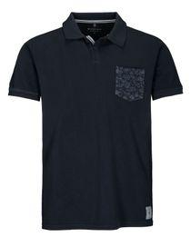 Polo Shirt mit Brusttasche Modern Fit - Blue Navy