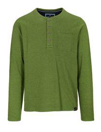 Henley Shirt mit Brusttasche - Grass
